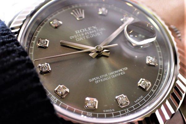 グレーダイヤルとダイヤが好相性 Ref.116334G